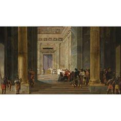 The Queen of Sheba before the Temple of Solomon in Jerusalem par Salomon de Bray