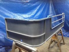 1984 Suntracker Party Barge Rebuild - Pontoon Forum > Get Help With Your Pontoon Project - Page 1 Mini Pontoon Boats, Pontoon Seats, Camper Boat, Mini Camper, Diy Miter Saw Stand, Pontoon Boat Accessories, Party Barge, Boat Stands, Pontoons