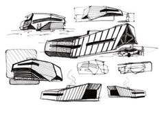 Spatial drawings on Behance