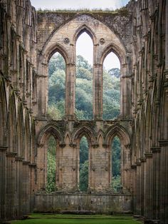 Rievaulx Abbey was founded in 1132 by twelve monks from Clairvaux Abbey as a mission for the colonisation of the north of England and Scotland. It was the first Cistercian abbey in the north. With time it became one of the great Cistercian abbeys of Yorkshire, second only to Fountains Abbey in fame.