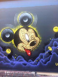 London Graffiti. Mickey Mouse.