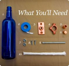 Instead of a stupid bottle tree, do this !