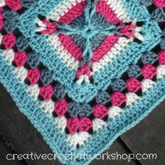 This Interlocked Granny Square is the 10th Afghan Block in the Crochet A Block Afghan 2017 Crochet Along! Free crochet pattern.