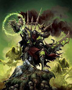 "Client: Privateer Press Destination: Forces of Warmachine ""Cryx"" Technique: Digital colouring All rights reserved Goreshade High Fantasy, Fantasy Rpg, Dark Fantasy Art, Fantasy Artwork, Warhammer 40k Art, Warhammer Fantasy, Zombies, Vampires, Cyberpunk"