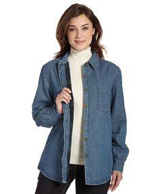 Amazon.com: Woolrich Women's Fleece Lined Denim Shirt Jac: Clothing