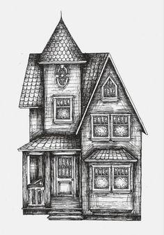 paintings+of+victorian+houses | how to draw : victorian houses