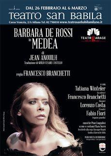 TG Musical e Teatro in Italia: Barbara De Rossi in MEDEA al Teatro San Babila
