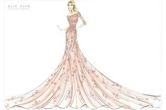 """Aurora from Sleeping Beauty by Elie Saab    Harrods - """"Encapsulating the natural grace and innocence of Aurora, this beautiful gown in pale pink is embellished with scattered exquisite beading.""""  Collection of Disney inspired gowns on display.  This was my favorite."""
