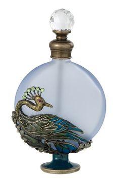 perfumero con motivo de pavo real