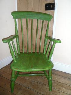Maisies House fireside chair, Annie Sloan 'Antibes Green'