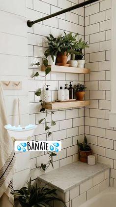 Modern Vintage Bathroom, Vintage Modern, Bohemian Bathroom, Bohemian Decor, Industrial Bathroom, Modern Sink, Vintage Diy, Vintage Home Decor, Sweet Home