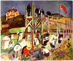 The Jetty at Sainte-Adresse, 1906			-Raoul Dufy - by style - Fauvism