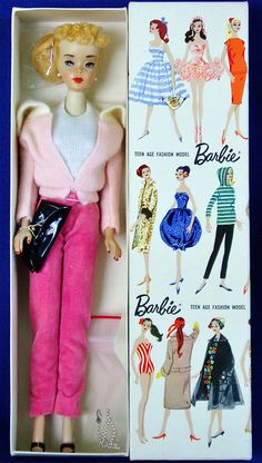 "Ultra rare Mattel sample Barbie: a #3 blonde ponytail with factory flipped under bun in pink version of ""Mood for Music"""