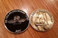 Air Traffic Control Challenge Coin (Black) from Mustang Loot