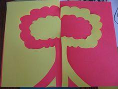 Art lesson -- positive negative symmetry project