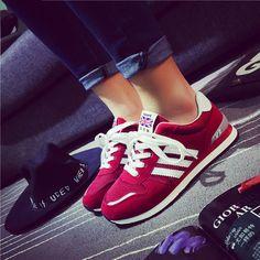 Encontrar Más Moda Mujer Sneakers Información acerca de Primavera y otoño de corea ocasional de los deportes zapatos para correr livianos, alta calidad los zapatos atléticos, China modas de calzado Proveedores, barato el deporte de Fu Yin zi Fang en Aliexpress.com