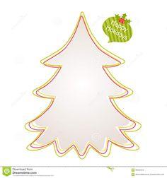 Green Christmas Tree Outline Clip Art