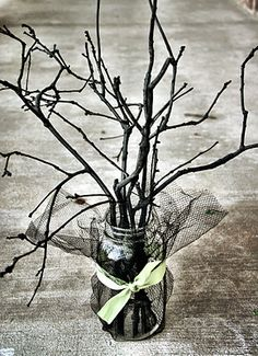 Halloween Spooky Sticks Table Centerpiece or Decor #halloween #decor #table