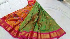 Beautiful saree from Paithani manufacturers Lehenga Saree Design, Pattu Saree Blouse Designs, India Fashion, Ethnic Fashion, Silk Saree Kanchipuram, Peafowl, Saree Shopping, Indian Designer Outfits, Saree Dress
