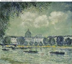 The Seine with the Institute of France, c. 1870. By Alfred Sisley.