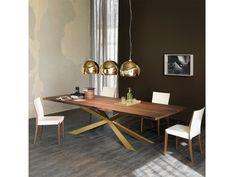 Cattelan Italia Esstisch Spyder Wood Rechteck Messing kaufen im borono Online Shop