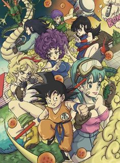 Goku and the females in Dragon Ball