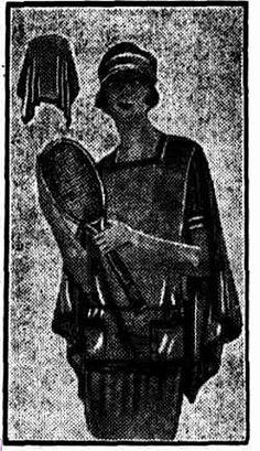 Lenglen Tennis Wrap 1925