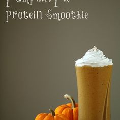Pumpkin Pie Protein Smoothie - vegan, gluten free, refined sugar free.  1 cup unsweetened pumpkin puree  1 frozen banana 1 cup unsweetened almond or coconut milk 1 scoop unflavored (or vanilla) protein powder* - optional 2 TBSP maple syrup, to taste 1/2 tsp. vanilla extract 1 Tsp Pumpkin Spice 6 icecubes Makes 2 servings