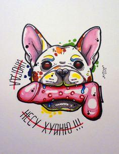 dog tattoo sketch