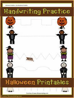 Halloween Printables: Preschool Handwriting Practice