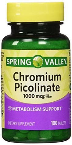 Spring Valley - Chromium Picolinate 1000 mcg, 100 Tablets ** ADDITIONAL INFO @ http://www.naturopathicmedicinelist.com/store/spring-valley-chromium-picolinate-1000-mcg-100-tablets/?c=6057