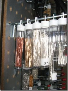 This is how I've been storing my head- and eyepins too, love it.  This post has a lot of other helpful ideas for beaders.