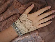 Janeromantic античный кружева запястье обертывание с бисером по FleurBonheur