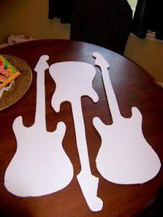 Guitar Jumbo Centerpiece Pinteres