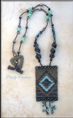 What a beautiful use of delicas and other beads.