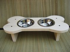 Raised Bone Dog Bowl Dog Dish /Feeder Give a Dog by cocollectibles