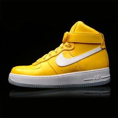 Airforce 1 Hi – Yellow, Gold & White from Nike Sneaker Fever