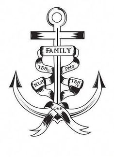 anchor tattoos for men Family Anchor Tattoos, Anchor Tattoo Men, Family Name Tattoos, Names Tattoos For Men, Tattoo Quotes For Men, Small Quote Tattoos, Small Tattoos With Meaning, Cool Tattoos For Guys, Mens Family Tattoos