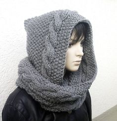 Loose fit Warme Merino-M/ütze Stripes f/ür Erwachsene Buff Grau
