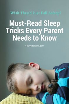 Learn how to make a kid fall asleep with these simple tips you can start today. And, discover the secret sensory tricks that can change everything about how your child sleeps. Super important kids for sensory issues, sensory seekers, Sensory Processing Disorder, Autism, and ADHD