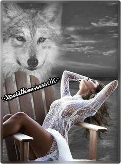 👍✌️ Wolf Images, Wolf Pictures, Fantasy Wolf, Fantasy Art Women, Native American Artwork, Native American Artifacts, Indian Wolf, Creepy Photography, Wolves And Women