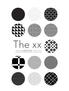 The Xx - Jj - Nosaj Thing gig poster by Sharon Laurilla