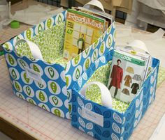 Tutorials for 10 different fabric boxes