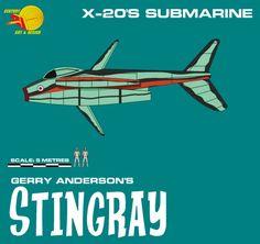 Gerry Andersons Stingray Submarine by ArthurTwosheds on DeviantArt Trekking, Deviantart, Design, Hiking, Design Comics