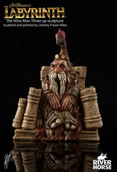 Jim Henson's Labyrinth the Board game, Sculpture and Illustration. by Johnny Fraser-Allen on ArtStation. Jim Henson Labyrinth, Labyrinth Movie, Resin Sculpture, Sculptures, Labrynth, Goblin King, Music Artwork, The Dark Crystal, Fantasy Miniatures