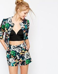 ASOS+Jacket+in+Photographic+Floral+Print+co-ord
