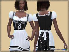 Sims 4 CC's - The Best: Dress Oktoberfest by Bukovka