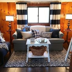 The Yellow Cape Cod: The Blog Cabin - Living Room Makeover Reveal