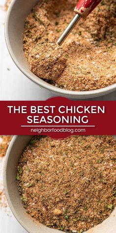 Homemade Chicken Seasoning in 5 Minutes You'll want to keep this Homemade Chicken Seasoning around for quick weeknight dinners! Mix it up in 5 minutes then use it on all kinds of chicken-- from whole rotisserie chickens to chicken breasts to drumsticks! Baked Chicken Seasoning, Rotisserie Chicken Seasoning, Chicken Spices, Tandoori Seasoning Recipe, Smoked Chicken Rub, Grilled Chicken Seasoning, Seasoning Salt Recipe, Smoked Pork, Bbq Chicken