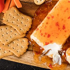 Check out this great recipe from Franks RedHot: Franks-Redhot-Sweet-Chili-Cream-Cheese-Dip Hot Sauce Recipes, Dip Recipes, Snack Recipes, Cooking Recipes, Yummy Recipes, Cooking Tips, Recipies, Appetizer Dips, Avocado